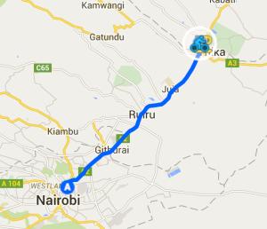 Nairobi to Race start