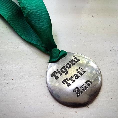 Tigoni Trail Run finisher's medal
