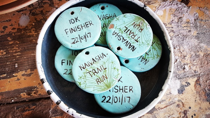 Naivasha Trail Run Finishers' Medals – keep it local